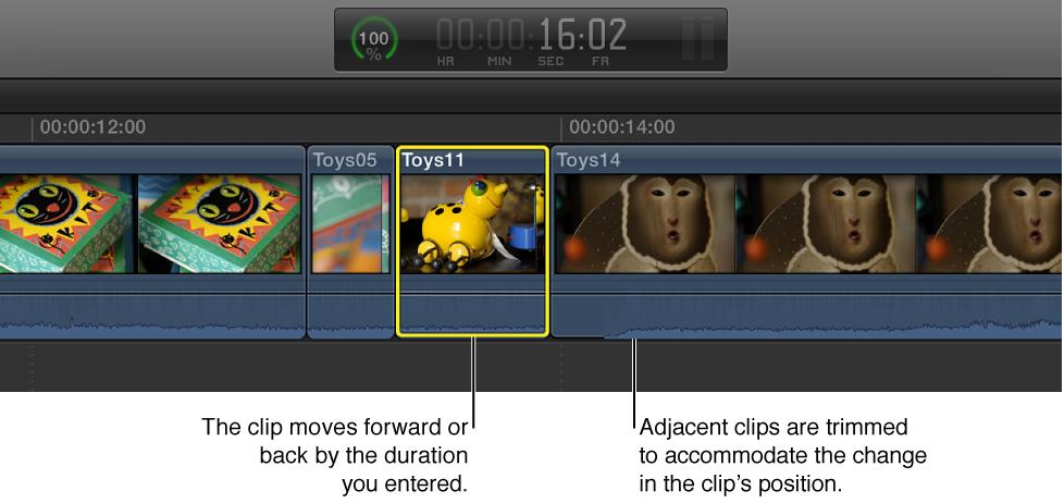 Moved clip in Timeline