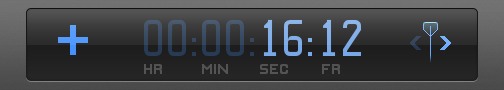 Timecode field in Dashboard showing plus sign and number of seconds and frames to move playhead forward