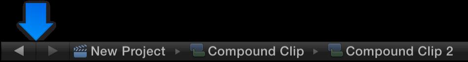 Compound clip navigation arrows