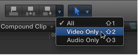 Video Only option in Edit pop-up menu