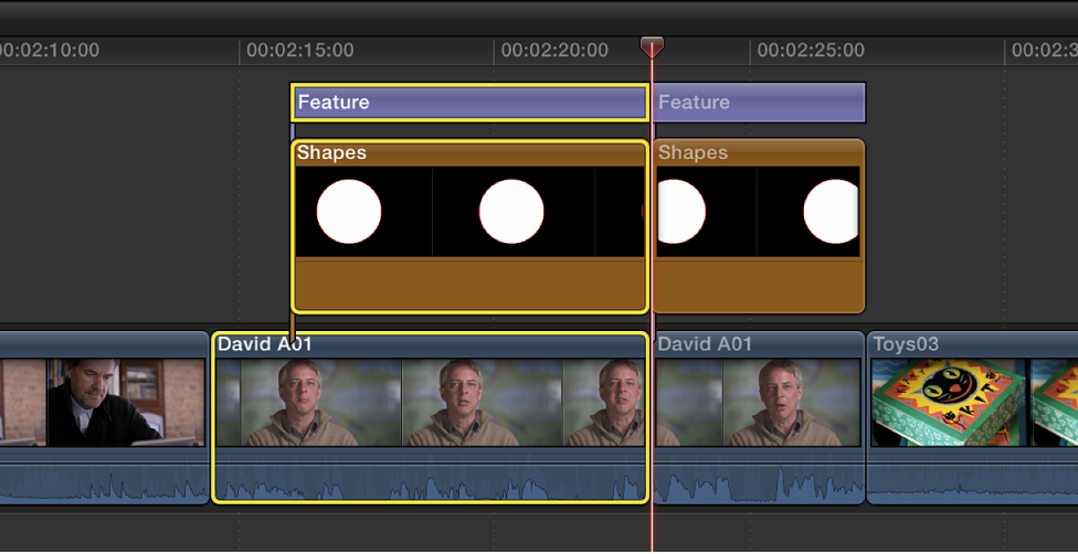 New edit point appearing across multiple clips in Timeline