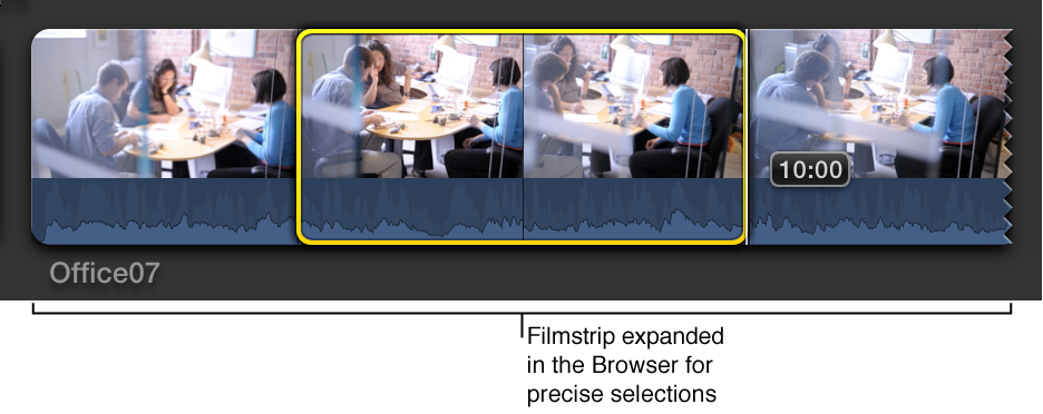 Filmstrip expanded in Browser