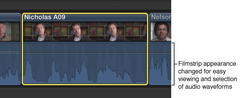 Filmstrip expanded in Timeline