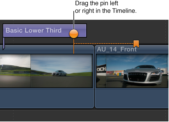Chapter marker thumbnail pin being dragged to another video frame in Timeline