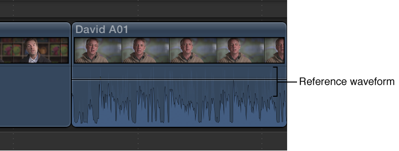 Clip in Timeline with reference waveform shown