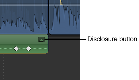 Disclosure button for effect in Audio Animation Editor