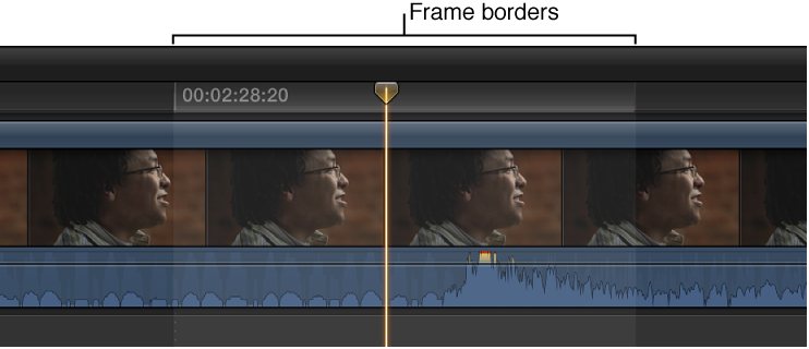 Audio waveform shown zoomed in to sample level