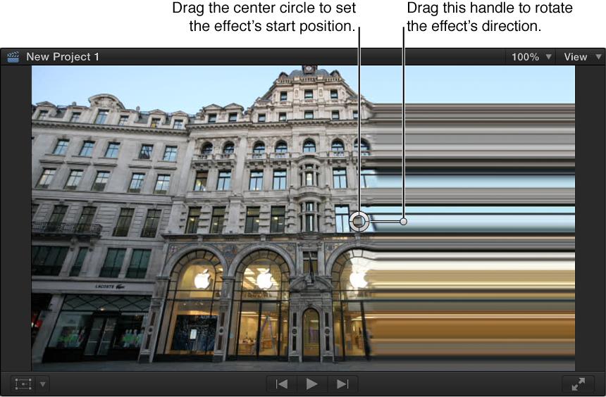 Viewer showing Scrape effect onscreen controls