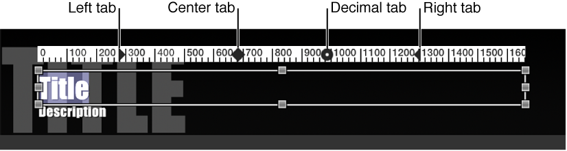 Paragraph text object in Viewer, with ruler shown above