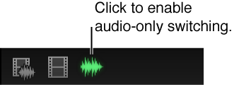 Audio-only switching button shown highlighted