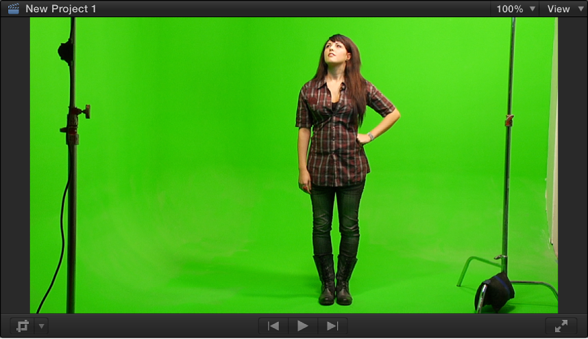 Viewer showing chroma key foreground video