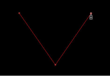 Viewer showing linear corner point