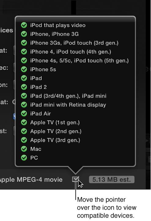 Compatible device list