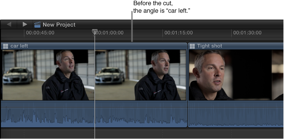 Multicam clip in Timeline before angle change
