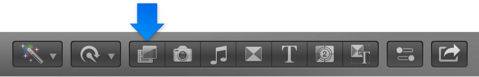 Effects button in toolbar