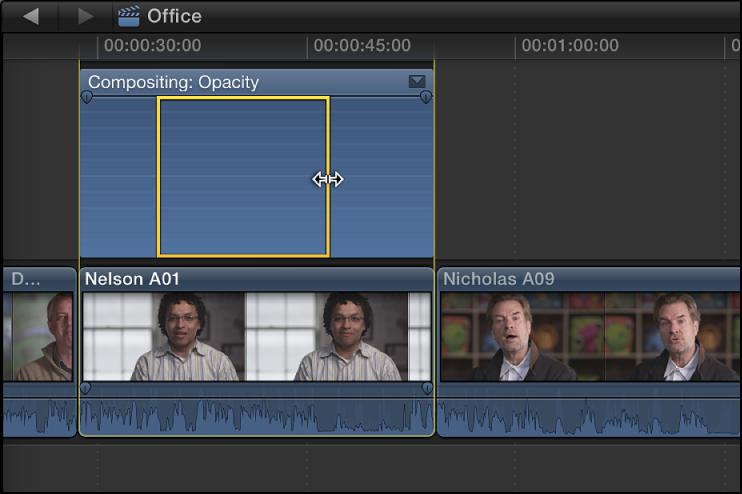 Ajustar efectos de vídeo utilizando fotogramas clave, Ayuda de Final ...