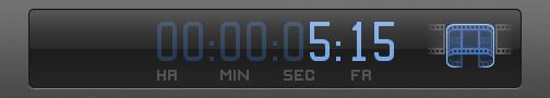 Dashboard 中的时间码栏