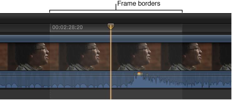 显示为缩放到样本级别的音频波形