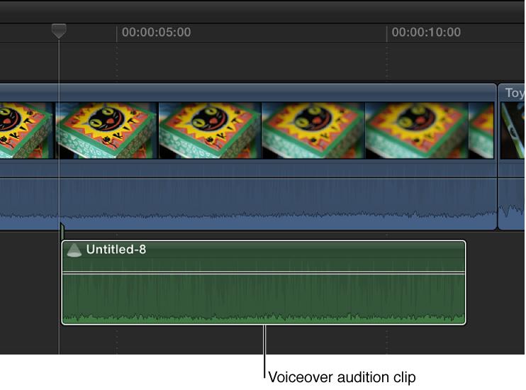 使用多个画外音镜头创建的试演片段