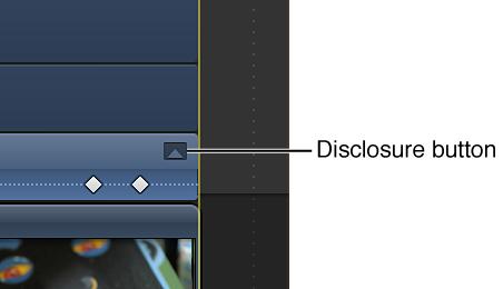 视频动画编辑器中用于效果的显示按钮