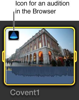 """浏览器的片段上的""""试演""""图标"""