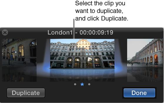 """""""试演""""窗口,显示所选片段和""""复制""""按钮"""