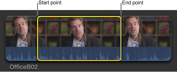 在浏览器的片段中设定开始点和结束点
