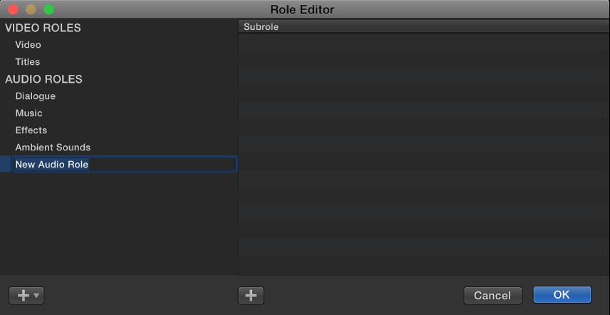 """新建的音频角色,位于""""角色编辑器""""窗口中"""