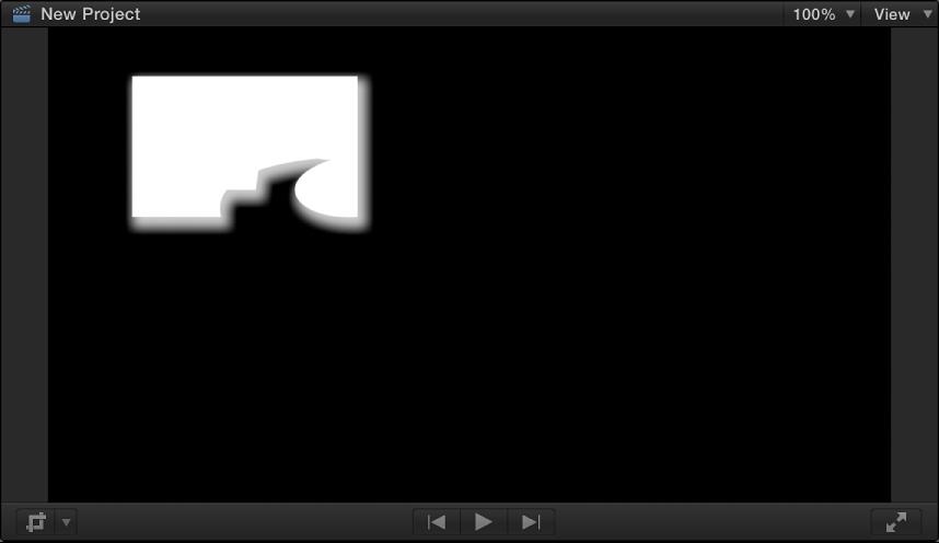 显示 Alpha 通道遮罩图像的检视器