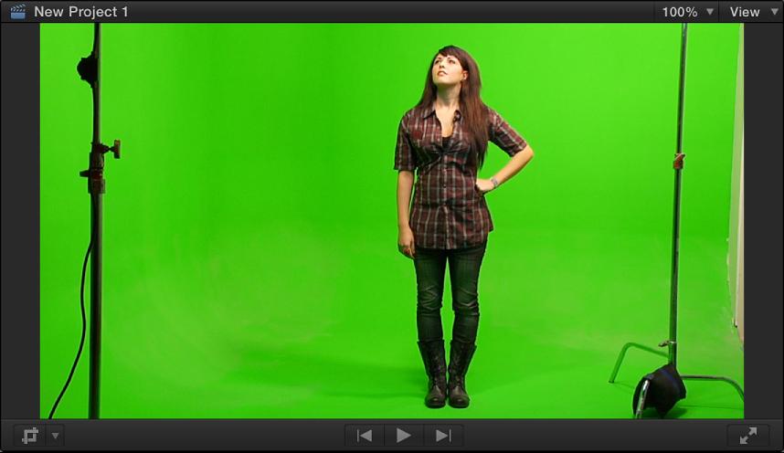显示色度抠像前景视频的检视器