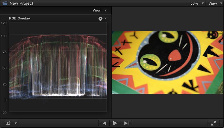 检视器和 RGB 叠层波形监视器