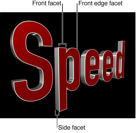 显示 3D 字幕的三个不同面的检视器