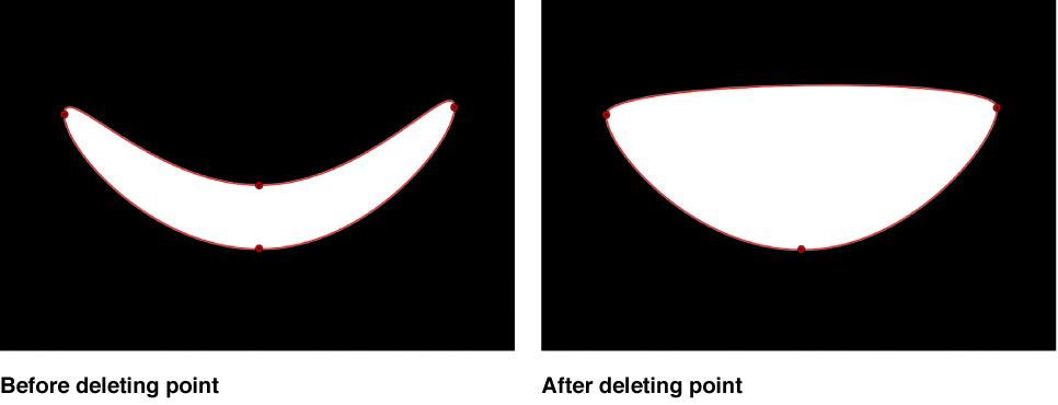 显示点从形状中删除的检视器