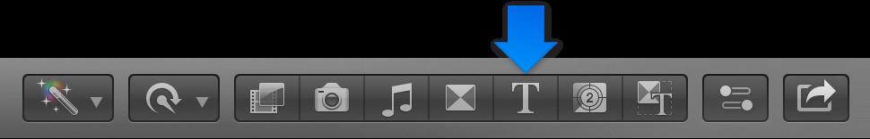 """工具栏中的""""字幕""""按钮"""