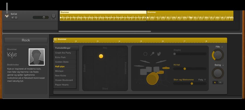 Figur. Drummer-spor og Drummer-værktøjet