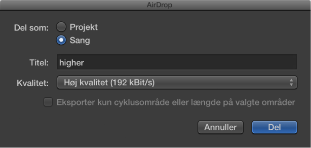 Figur. AirDrop-dialog.
