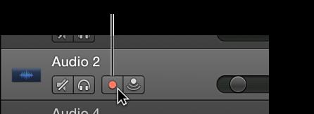 """Abbildung. Spur-Header mit Taste """"Aufnahme aktivieren"""""""