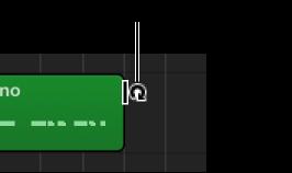 Abbildung. Loop-Zeiger am rechten Rand einer Region.