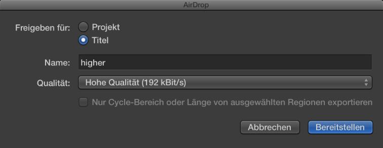 "Abbildung. Dialogfenster ""AirDrop""."