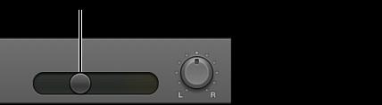 Εικόνα. Κεφαλίδα καναλιού που εμφανίζει το ρυθμιστικό έντασης ήχου
