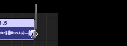 Εικόνα. Δείκτης αλλαγής μεγέθους στο δεξιό άκρο μιας περιοχής