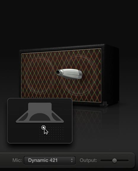 Εικόνα. Amp Designer που εμφανίζει χειριστήρια μικροφώνου