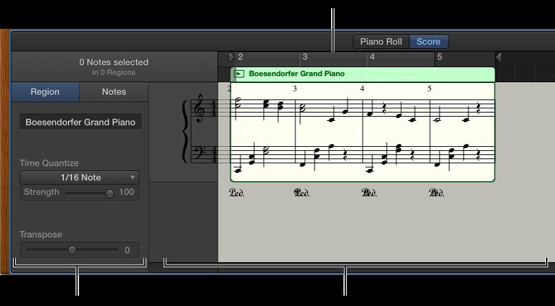 Figure. The Score Editor.