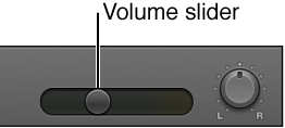 Figure. Track header showing Volume slider
