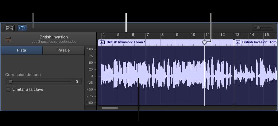 Ilustración. Editor de audio.