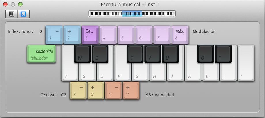 """Ilustración. Ventana """"Escritura musical""""."""