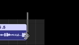 Ilustración. Puntero de redimensionamiento sobre el borde derecho de un pasaje