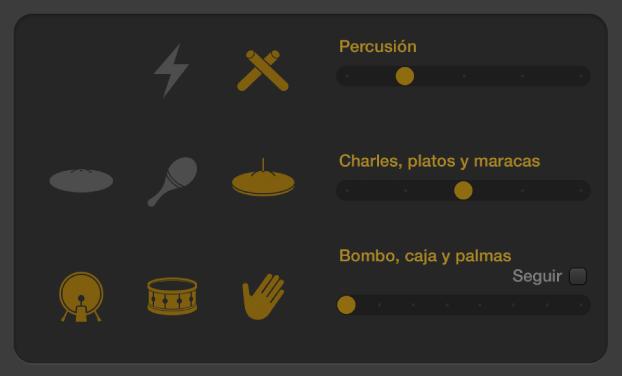Ilustración. Editor Drummer que muestra controles de variación de patrón electrónico