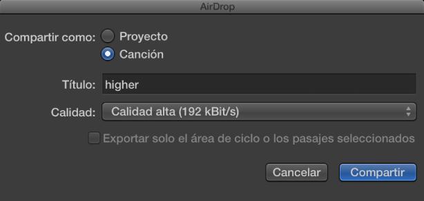 Ilustración. Cuadro de diálogo de AirDrop.