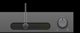 Figure. Curseur de volume dans l'en-tête de piste